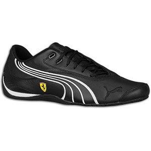 PUMA Drift Cat III Ferrari Lace-Up Fashion Sneaker,Black/White,11.5 D US Men's/13 B US Women's