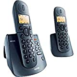 Philips CD245 DUO Cordless Phone with Answering Machine ( DECT,Hands Free Functionality, Low Radiation )