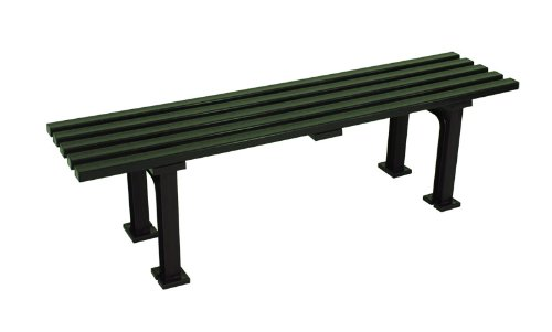 Wetterfeste Sitzbank Parkbank Kunststoffbank MONO, Kunststoff grün, 150cm jetzt kaufen
