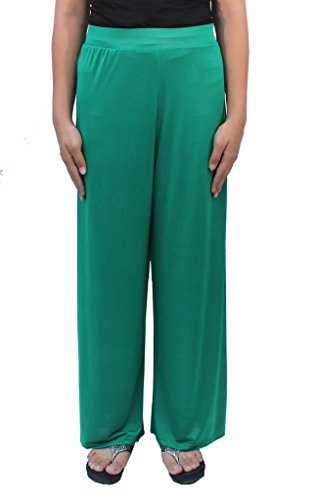 Romano Women's Green Plazo Pant