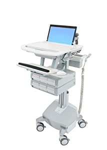 StyleView Laptop Cart, LiFe Powered, 6 Drawers