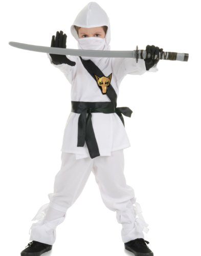 White Wolf Ninja Kids Costume