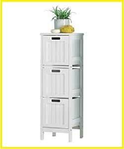 Drawer Bathroom Storage Unit Slimline Chest Of 3 Bedside Cabinet