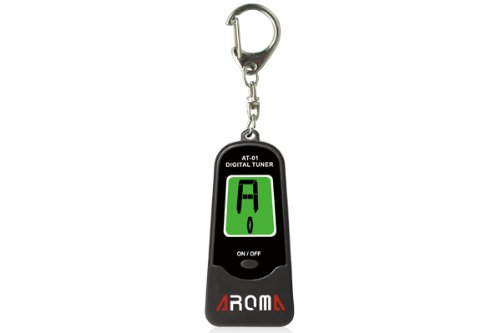 Aroma At-01 Chromatic Guitar Tuner W/Mic Two Backlight Keyring