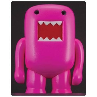 "4"" Domo Vinyl Figure: Black Light Pink - 1"