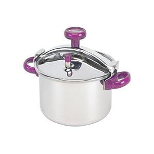 Seb p0561114 cocotte minute 8 l inox violet for Alambic maison cocotte minute