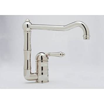 Rohl A3608/11LMTCB-2 A3608/11Lm-2 Country Kitchen Faucet with Metal Lever Handle, Tuscan Brass