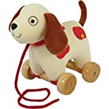 Plush Puppy Pull Toy 7""