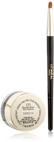 L'Oreal Paris discount duty free L'Oreal Paris Infallible Lacquer Eyeliner 24H, Blackest Black, 0.08 Ounces