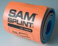 "SAM Rolled Splint 36"", Orange/Blue from 37155"