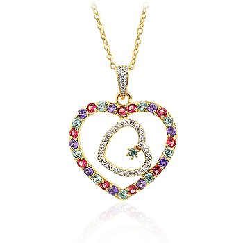 Double Heart Gold 14kt Pendant
