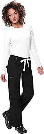 KOI 701 Women's Lindsey Pant Black/White X-Small Petite