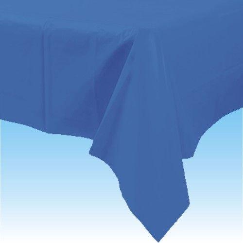 Nappe de table en plastique bleu royal de 137cm x 274cm