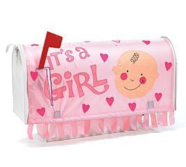 """""""It'S A Girl"""" Mailbox Cover Great Baby Birth Announcement"""