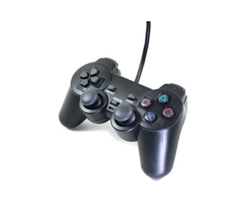 Donop® Wired Game Pad Game Gaming Controller Joypad Gamepad Console Controller Joysticks Black Compatible with Sony Playstation 2 Ps2 w/ Dual Shock Dual Vibration Feedback Motors Easy Installation