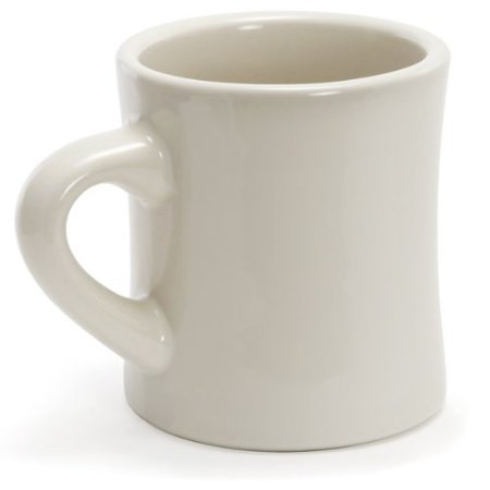 Plain Ceramic Coffee Mug -- Official Funny Guy Mugs™ Product (10Oz, Cream)