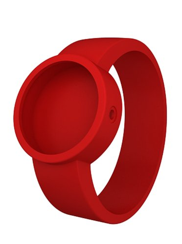 O Clock Unisex Ocs17-M (Medium) Red Hypoallergenic Silicon Rubber Watch Strap