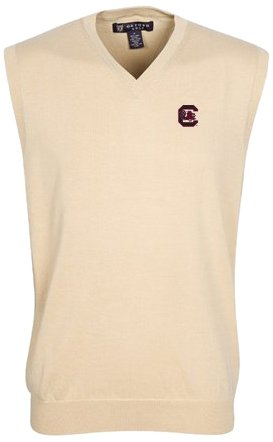 Oxford NCAA South Carolina Fighting Gamecocks Mens Bristol Sweater Vest by Oxford