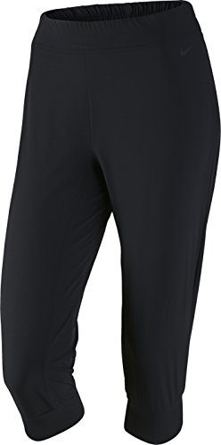 Nike Women's Dri-Fit Woven Bliss Skinny Training Capris-Black-Small