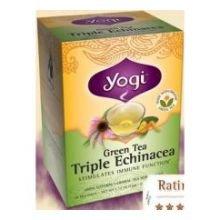 Yogi Tea Co Organic Triple Echinacea Green Tea - 16 Bags Per Pack -- 6 Packs Per Case.