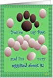 Happy Paw's Day - Father's Day Humor Card