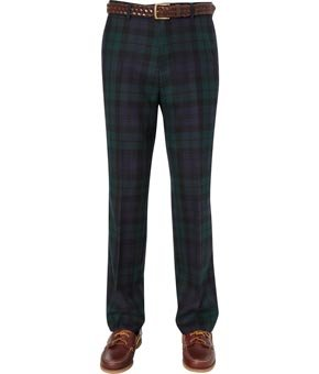 Viyella Viyella Black Wool Check Trousers REGULAR MENS 36