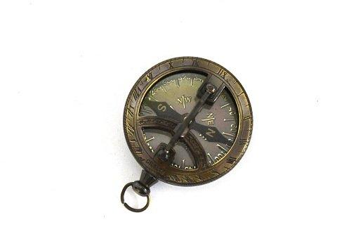 Nautical Gilbert Antique Style Pocket Compass Brass Finish 5