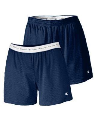 "Champion Ladies' Active 5"" Mesh Shorts - Navy - M"