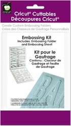 New - Cricut Cuttables Embossing Folder Kit by Provo Craft