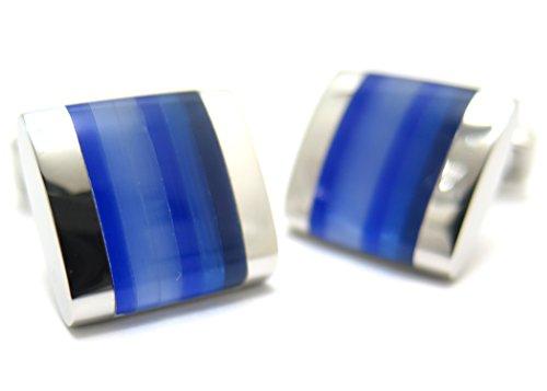 タテオシアン(TATEOSSIAN) ルーチェオプティックリガートカフス(ブルー) (カフスボタン/カフリンクス)
