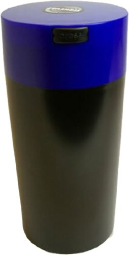 Tightvac 1-1/2 Pound Vacuum Sealed Dry Goods Storage Container, Black Body/Dk. Blue Cap front-913470