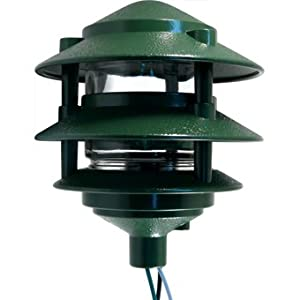 3 tier pagoda light fixture green landscape path for Landscape lighting supply