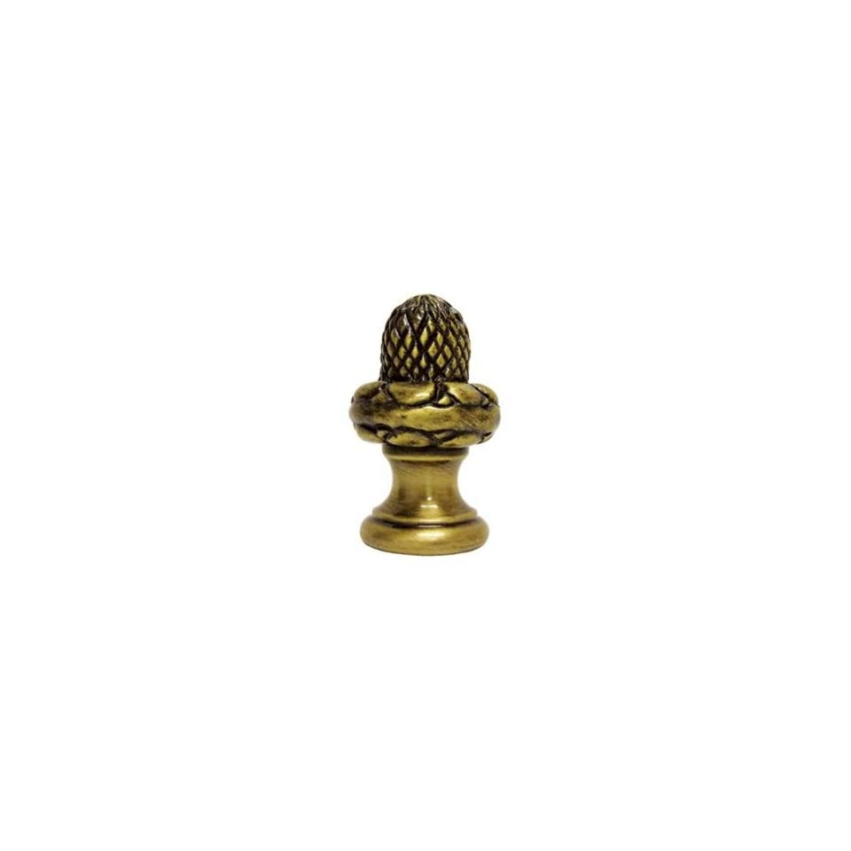 Acorn Antique Brass Finial
