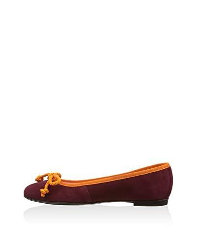 Bisue Ballerina burgunder/orange EU 42