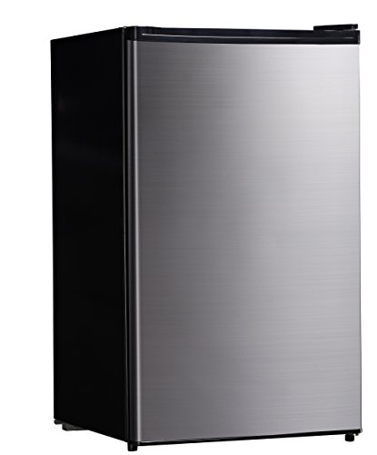 Midea Whs-160Rss1 Single Reversible Door Refrigerator And Freezer, 4.4 Cubic Feet, Stainless Steel