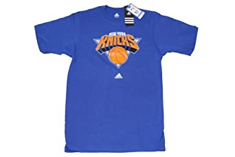 NBA Men's New York Knicks Short Sleeve T- Shirt (Blue, Small)