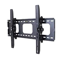 VonHaus by Designer Habitat PREMIUM TV Wall Mount for 33 - 60 inch LCD, LED, or Plasma Flat Screen TV - Super-strength Load Capacity 165lbs - 15 Degree Tilt Mechanism Up & Down, Max VESA 660x450 - Free Bubble Level
