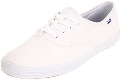 Keds Women's Champion Leather Sneaker,White Leather, 7 W