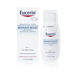 Eucerin Redness Relief Soothing Facial Moisture Lotion with SPF 15, 1.7 Oz
