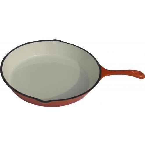 Cajun Cookware Skillets 12 Inch Enamel Cast Iron Skillet