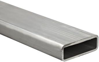 Aluminum 6063-T52 Hollow Rectangular Bar, Rounded Corners