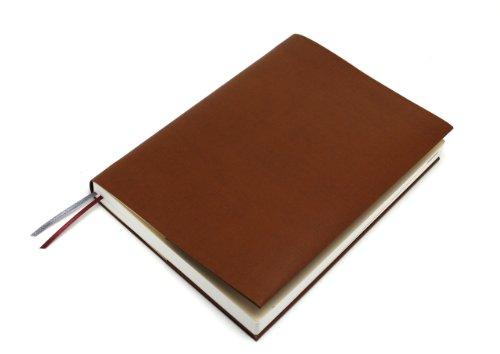 お手入れいらずのほぼ日手帳カズン対応A5サイズ リサイクルレザーカバースピンしおりひも付き (キャメル)