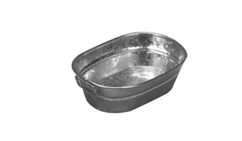 American Metalcraft MTUB69 Natural Galvanized Tub with Side Handle, 9-Inch (Bus Tub Metal compare prices)
