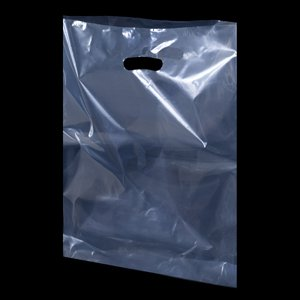 Clear Plastic Carrier Bags - 54cm x 46cm + 7cm- (1 BOX - 50 BAGS)