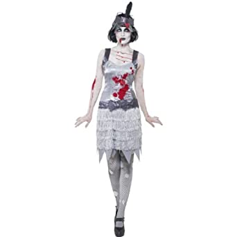 Smiffy's Women's Zombie Flapper Costume with Dress and Headband