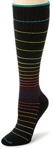 Sockwell Women's Circulator Compression Socks, Medium/Large, Black Stripe