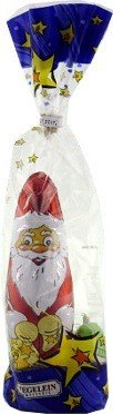 Riegelein German Milk Chocolate Christmas Santa & Ornaments 3.5 Oz Gift Bag
