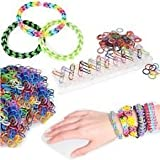 2000 Friendship Loom 10 Charms Bracelet Jewelry Maker Kit Rainbow Rubber Bands - Includes 1 tool