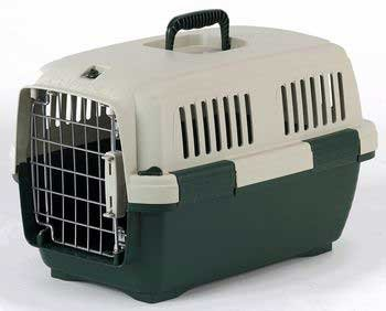 Marchioro Clipper Cayman 1 Pet Carrier, 19.5-Inches, Tan/Green front-42414