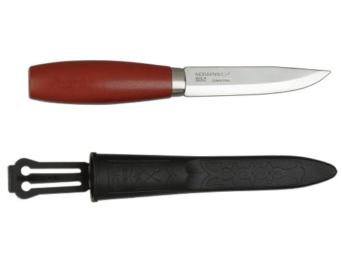 Morakniv Classic No 2 Wood Handle Utility Knife with Carbon Steel Blade, 4.2-Inch (Morakniv Classic compare prices)